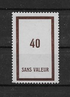 Fictif N° 112 De 1954 ** TTBE - Cote Y&T 2020 De 3,00 € - Phantomausgaben