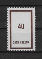 Fictif N° 112 De 1954 ** TTBE - Cote Y&T 2020 De 3,00 € - Ficticios