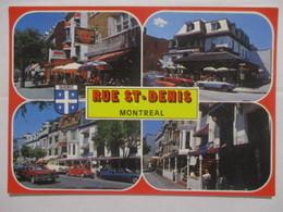 CPM CPSM CP POSTCARD MONTRÉAL QUEBEC CANADA V1980 - RUE ST-DENIS / STREET / MULTIVUES - BON ETAT - Montreal