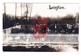PK Ledegem - Militair Kerkhof Deutscher Friedhof Cemetery / Duitse Fotokaart WO WK I Oorlog Guerre War 14-18 - Ledegem
