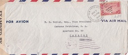 U.S.A. ENVELOPE, CIRCULATED 1942 NEW YORK TO CARACAS, VENEZUELA. BY AIRMAIL, EXAMINED  -LILHU - Covers & Documents