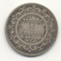 TUNISIE  1 Franc 1891 - Tunisie
