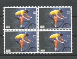 OCB 3304 ** Postfris Zonder Scharnier In Blok Van 4 - Belgien