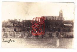 PK Ledegem - Sint-Pieterkerk M Militair Kerkhof Friedhof Cemetery / Duiste Fotokaart WO WK I Oorlog Guerre 14-18 - Ledegem