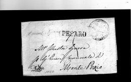 CG7 - Italia - Bollo Lineare Pesaro Su Lettera Del 29/5/1840 Per Monte Porzio - 1. ...-1850 Prephilately