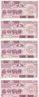 SOMALIA 5 SHILLINGS 1987 P 31c LOT X10 AU/UNC NOTES */* - Somalia
