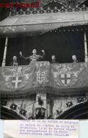 PHOTOGRAPHIE ANCIENNE LE GENERAL DE GAULLE EN BELGIQUE BRUXELLES PRESIDENT GUERRE POLITIQUE - Personajes