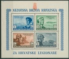 Kroatien 1943 Kroatische Legionäre Block 5 A Postfrisch (C91944) - Croatia