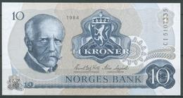 Norwegen 10 Kronen 1984, Fridtjof Nansen, KM 36 C, Kassenfrisch (K99) - Noruega