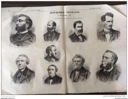 GUERRE DE 1870 - RÉPUBLIQUE FRANÇAISE 4 Septembre 1870 - GAMBETTA - FERRY - CREMIEUX - ROCHEFORT - DÉFENSE DE PARIS - Livres, BD, Revues