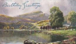 PC Rydal Water - Birthday Greetings  - Tuck's (46814) - Cumberland/ Westmorland