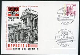 Bund PP102 C2/001 WIEN HOFBURG WIPA Sost. Frankfurt/M. NAPOSTA 1981 NGK 10,00 € - [7] Federal Republic
