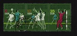DDR - Mi-Nr. 1928 - 1930 Dreierstreifen Hallenhandball-Weltmeisterschaft Männer Gestempelt (3) - Zusammendrucke