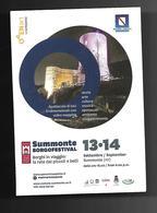 Cartolina Pubblicitaria - Summonte ( AV ) - Borgo Festival - Musei