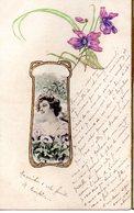 CPA  Fantaisie -  Visage De Jeune Femme     -  Embossée Ou Gaufrée -   - écrite - Fancy Cards