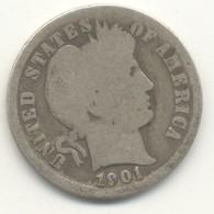 ONE DIME 1901  Barber Dime - EDICIONES FEDERALES