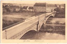 SPROTTAU Schlesien Bober Brücke Szprotawa Bahnpost ZUG 514 8.1.1924 Gelaufen - Schlesien
