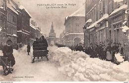 PONTARLIER Sous La Neige - La Grande Rue - Très Bon état - Pontarlier