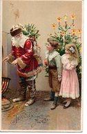 CPA  Fantaisie -  Joyeux Noel Avec Père Noel -  Embossée Ou Gaufrée   -  écrite    - - Christmas