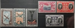 Lituanie 1934 / Yvert Poste Aérienne N°84-89 / * - Lithuania