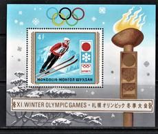 (248)  Mongolei--   Mi.-Nr. Block 26 **/MNH, Pracht, Winterolympiade 1972 - Inverno1972: Sapporo