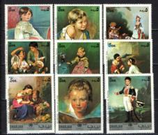 SHARJAH - 1971 - OPERE D'ARTE: RENOIR, MURILLO, WATTEAU, VELASQUEZ, RUBENS, GOYA - MNH - Sharjah