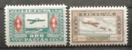 Lituanie 1921 / Yvert Poste Aérienne N°12-13 / * - Lituanie