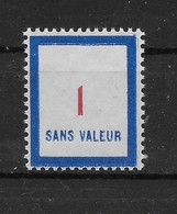 Fictif N° 118 De 1956 ** TTBE - Cote Y&T 2020 De 2,00 € - Phantomausgaben