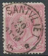 [600691]B//O/Used-N° 46, 10c Rose, Obl Concours RELAIS 'SANTVLIET', Nipa +350 - 1884-1891 Leopoldo II