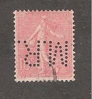 Perforé/perfin/lochung France No 129 M.R. Maison Robin - France