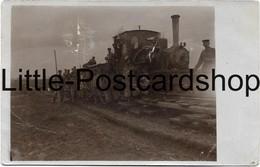 1.WK Foto Feldbahn Lokomotive Kennung A - War 1914-18