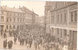 PERLEBERG Treiben Schützenfest V Westprignitzer Landbund Bank Original Private Fotokarte Ungelaufen - Perleberg