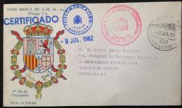 "Spain, Registered And Circulated FDC, ""Serie Basica De S.M. El Rey"", 1982 - Colecciones"