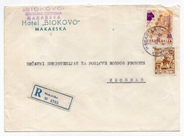 1960 YUGOSLAVIA, CROATIA, MAKARSKA TO BELGRADE, HOTEL BIOKOVO - 1945-1992 Socialist Federal Republic Of Yugoslavia