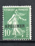 "COURS INSTRUCTION SUR YT N° 159 TYPE III   SURCHARGE ""C"" - NEUF * TRACE DE CHARNIERE COTE : 15 € - - Lehrkurse"