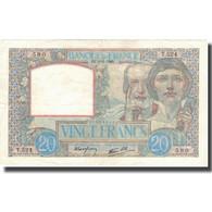 France, 20 Francs, Science Et Travail, 1940, 1940-06-06, TTB+, Fayette:12.3 - 1871-1952 Antichi Franchi Circolanti Nel XX Secolo