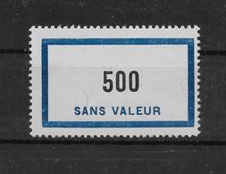 Fictif N° 138 De 1957 ** TTBE - Cote Y&T 2020 De 6,00 € - Ficticios
