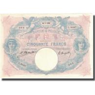France, 50 Francs, Bleu Et Rose, 1922, 1922-07-24, TTB, Fayette:14.35, KM:64g - 1871-1952 Anciens Francs Circulés Au XXème