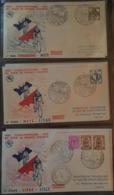 """CINQUANTENAIRE TOUR DE FRANCE, Cyclisme:1903-1953-complet, 24 Envel, Dédicace Louison Bobet Sur """"arrivée à Paris"""" - FDC"""