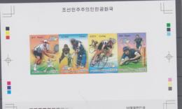 SPORTS  - NORTH KOREA - 2013 - TENNIS/CRICKET/RUGB/CYCLING  ARCHIVE  S/SHEET   IMPERF  MINT NEVER HINGED - Timbres