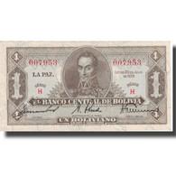Billet, Bolivie, 1 Boliviano, 1928, 1928-07-20, KM:128c, TTB+ - Bolivie