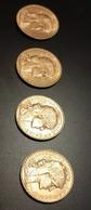 4 Pièces De 20 Francs Or Coq Et Marianne Années 1911 / 1912 / 1913 / 1914 - Oro