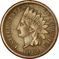Monnaie, États-Unis, Indian Head Cent, Cent, 1864, U.S. Mint, Philadelphie - 1859-1909: Indian Head