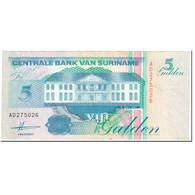 Billet, Surinam, 5 Gulden, 1991, 1991-07-09, KM:136a, TTB - Surinam