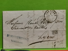 Lettre, Oblitéré Verviers 1861. Hri Systermans & Cie - Belgique