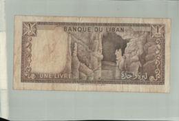Billet De Banque: 1 Livre (Liban) (1964-1980) Période D'émission : 1964-Janv 2020  Clas Gera - Liban