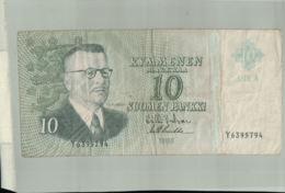 BILLET Banque Finlande  10 Markkaa - 1963  -Janv 2020  Clas Gera - Finlande