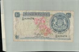 Billet Banque  Singapour  1 Dollar Orchidée, 1967-Janv 2020  Clas Gera - Singapour