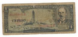 Cuba 1 Peso 1958, G. - Cuba