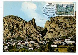 Carte Maximum 1965 - Moustiers Sainte Marie - YT 1436 - 04 Moustiers Sainte Marie - Maximum Cards